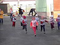 Соревнования по кроссу среди дошкольников