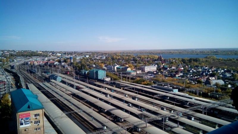 вид на город с высоты 14 этажа