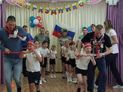 Праздник «День защитника Отечества»в Детском саду «Солнышко» п. Стройкерамика.
