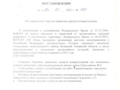 Постановление №260 от 29 марта 2021г.